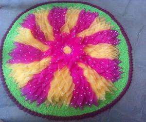 Sponge Rangoli