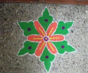 Rangoli: Deepawali Kolam