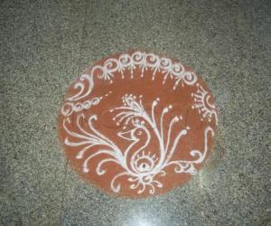 Rangoli-Satyanarayan pooja and Gana Homa