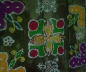 Rangoli: butterfly kolam