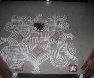 Vinayagar chathurthi kolam