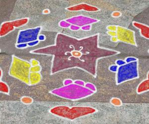 Rangoli: dotted kolam 26