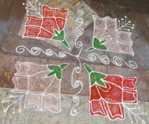 Rangoli: dotted kolam 24