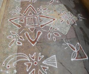 Rangoli: free hand kolam 18