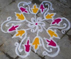 FRESH FLOWER KOLAM FOR LATA