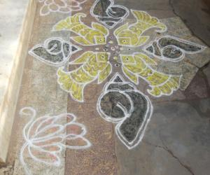 Rangoli: dedicated to LATA MAM