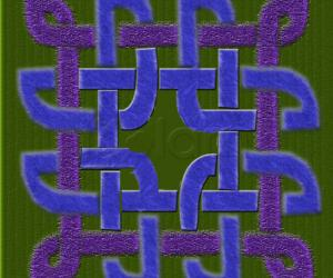 Rangoli: celtic knot
