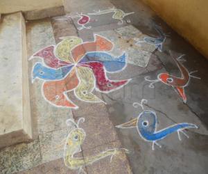 Rangoli: free hand kolam