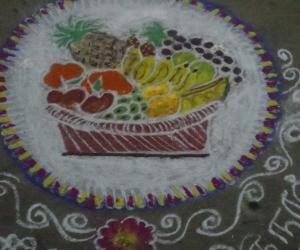 Rangoli: chithirai kani kolam