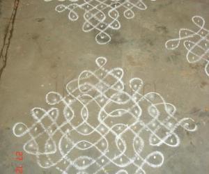 Rangoli: sikku kolam 14