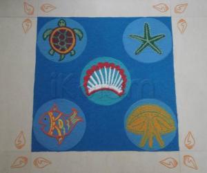 Rangoli: Sea animals Theme Rangoli