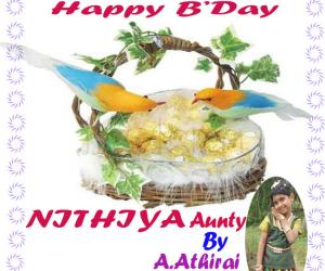 Rangoli: Happy Birthday Nithiya Mam