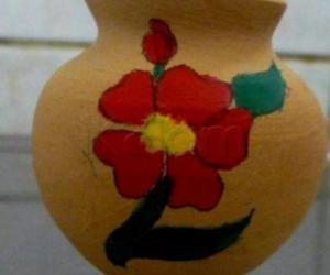 Design on a pot