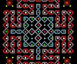 paDikOlam - 36 - paDikOlam as a chikku kOlam