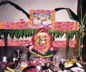 Rangoli: Varalakshmi pooja in my house