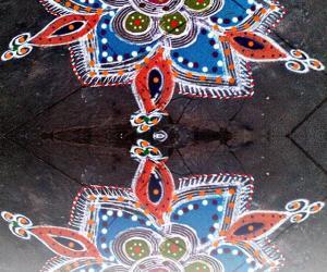 reflection rangoli