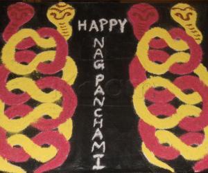 Rangoli: Happy NagaPanchami