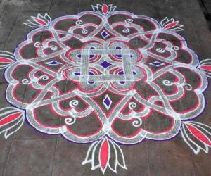 Rangoli:  VINCI'S KUZHAL KOLAM