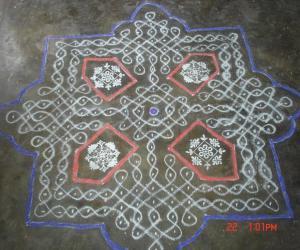 Rangoli: sikku kolam34