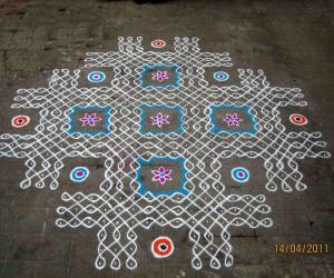 Rangoli: Tamil New Year's Day