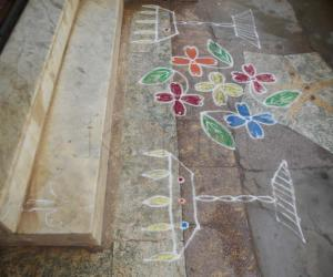 Rangoli: Tamil New year kolam