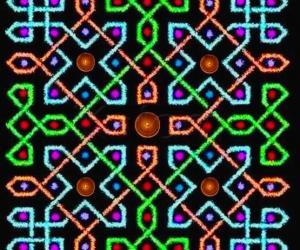 Rangoli: A rangOli with 9x9 dots - 4