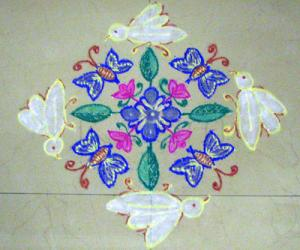 Rangoli: Butterfly/whitefly