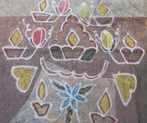 Rangoli: NAVARATHI 9TH DAY