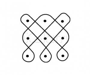3 - 3 kolam with parallel dots
