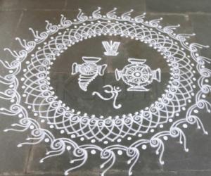 Rangoli: Vaikunta ekadshi