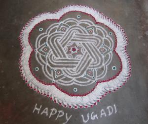 Rangoli: ugadi -fusion rangoli