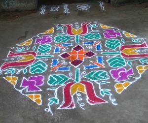 Rangoli: colour kolam