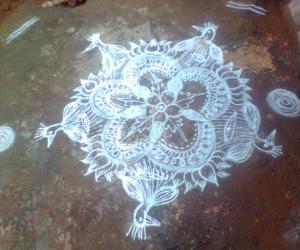 Rangoli: Wednesday's special kolam