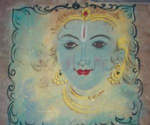 Rangoli: lord krishna rangoli