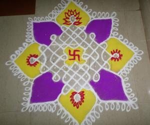 Rangoli: COLOR CHIKKU KOLAM