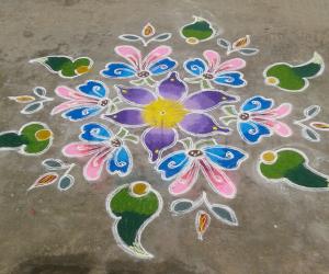 Akshaya tritiya kolam