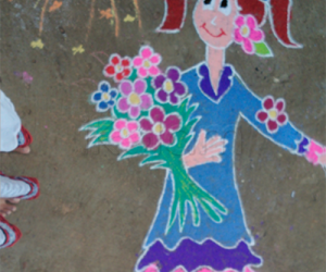Rangoli: Rangoli_flower girl