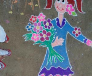 Rangoli_flower girl