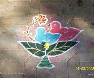 Rangoli: Pair of birds!