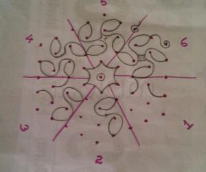 Design grid for rangoli