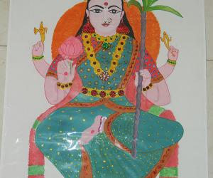 Rangoli: Rajarajeswari  freehand drawing