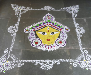 Rangoli: Navarathri durgaashtami
