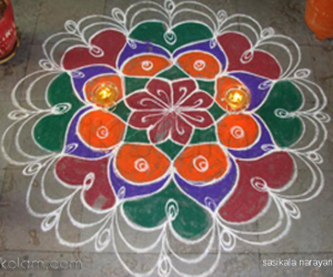 mixed padi & rangoli