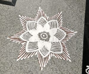 Rangoli: Blooming lotus