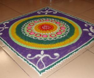 rangoli for vijayadasami