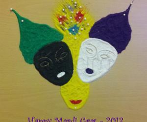 Rangoli: Mardi Gras masks