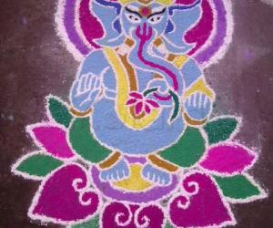Sri Ganesha Kolam