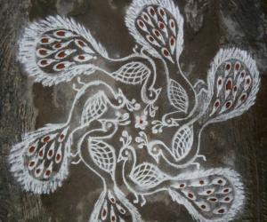 Rangoli: Peacock title