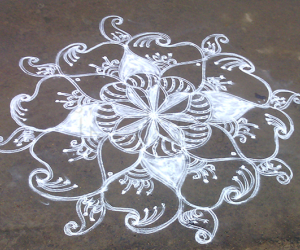 Friday double stroke kolam