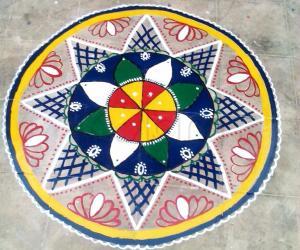 Painted Rangoli